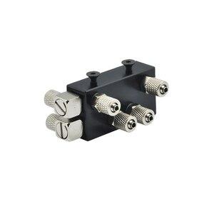 Image 1 - Distribuidor de aceite hidráulico Integral de tres canales para 1/14 RC, pieza de brazo de excavadora de Metal