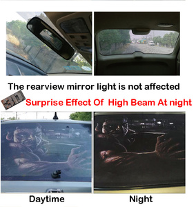 Image 5 - For Pickup Car Surprise 3D Rear Windshield Sticker 135x36/146x46cm One Way Vision Material OEM Unique ORC Thriller Sticker Scary
