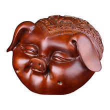MOZART Color Copper Pig Ornaments Pure Copper Blessing Pig Head Lucky Room Living Room Decoration Tv Cabinet Wine Cabinet Home new chinese zen ceramic pure copper ornaments living room tv cabinet entrance crafts home model room soft decorations