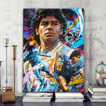 Diego Maradona Football Poster Canvas Comics Printed sports Decoration Painting Home Wall Living Study Room Child Room Bedroom 1