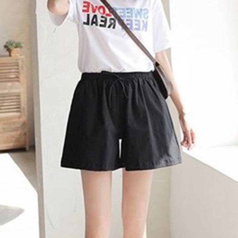 2020 fashion Women shorts Summer Casual Solid Cotton Linen shorts high waist loose shorts for girls Soft Cool female short S-XL