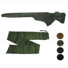 "14 ""Airsoft Rifle Pistol Knit Gun Sok Polyester Siliconen Behandeld Rifle Protector Cover Holster Pistool Opbergtas Case voor jacht(China)"
