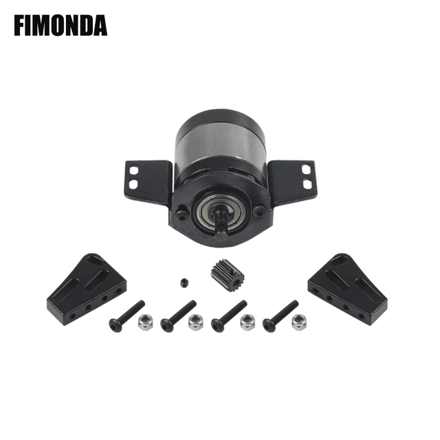 RC Car 1:5 Gear Ratio Planetary Gearbox Metal Transmission Case with Mount for 1/10 RC Crawler RC4WD D90 SCX10 Upgrade Parts
