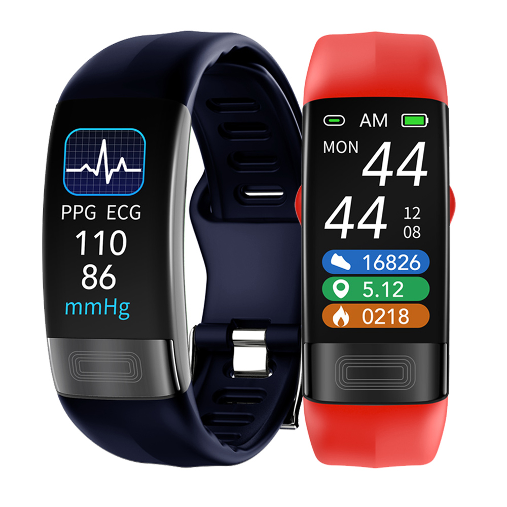 Смарт-браслет с измерением ЭКГ, PPG, температуры тела, пульса, артериального давления, кислорода, водонепроницаемый спортивный фитнес-брасле...