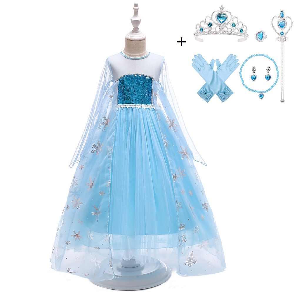 Filles Disney Frozen Princesse Elsa Deluxe Livre Jour Costume Robe fantaisie tenue