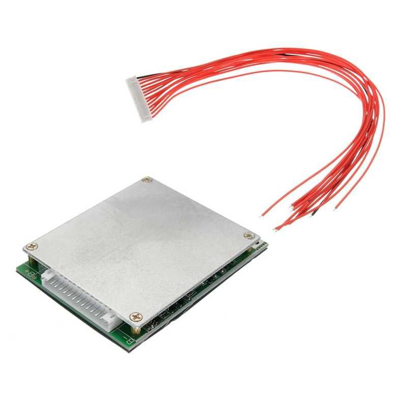 Tablero de protección de batería Li-Ion litio 18650 de 13S 35A 48V con celda Bms Pcb