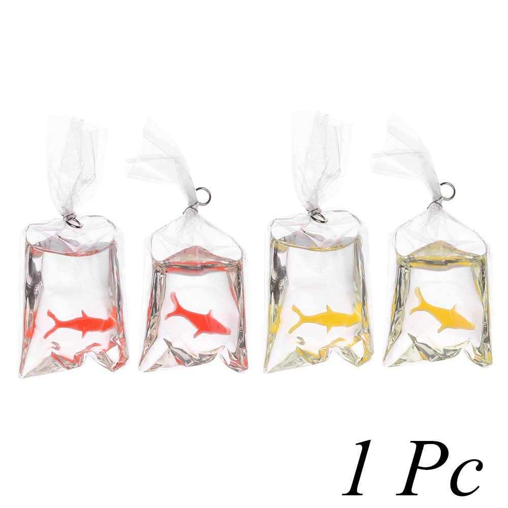 1 PC Artificiale Sacchetto di Acqua di Pesce In Miniatura Casa Delle Bambole Ornamento Casa Craft Decor Divertente cassa del telefono Della Decorazione FAI DA TE Orecchino Accessori