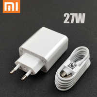 Original 27W EU xiaomi Fast charger QC 4.0 turbo charge adapter usb type c cable for mi 9 se 9t CC9 Redmi note 7 8 pro K20 mix 4
