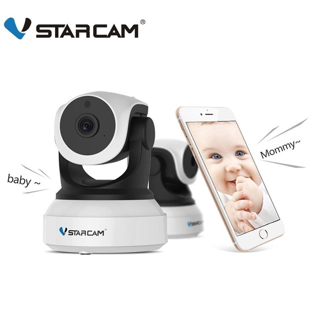 Vstarcam c7824wip 720 p hd wifi ip câmera de visão noturna câmera de segurança em casa sem fio p2p indoor ir cam ptz ip camara áudio onvif