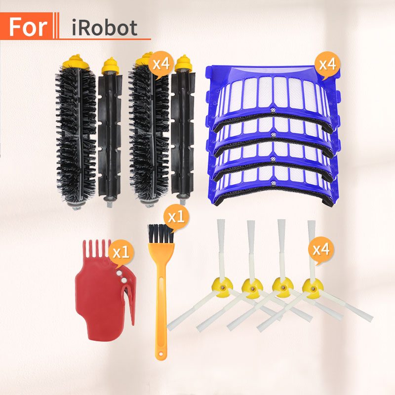 Spare Parts Kit For IRobot Roomba 600 Series 680 610 620 Vacuum Cleaner For Home Aero Vac Filter Side Brush Robot Vacuum Cleaner