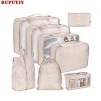 8 Teile/satz Reise Kleidung Klassifizierung Lagerung Tasche Für Verpackung Cube Schuh Unterwäsche Pflege Organizer Pouch Reise Zubehör