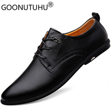 2019 new men's shoes dress genuin leather male classic black lace up party shoe man elegant office formal shoes for men hot sale hot sale autumn lace up square toe men dress shoes black leather shoes luxury male casual shoes man office feast formal shoes