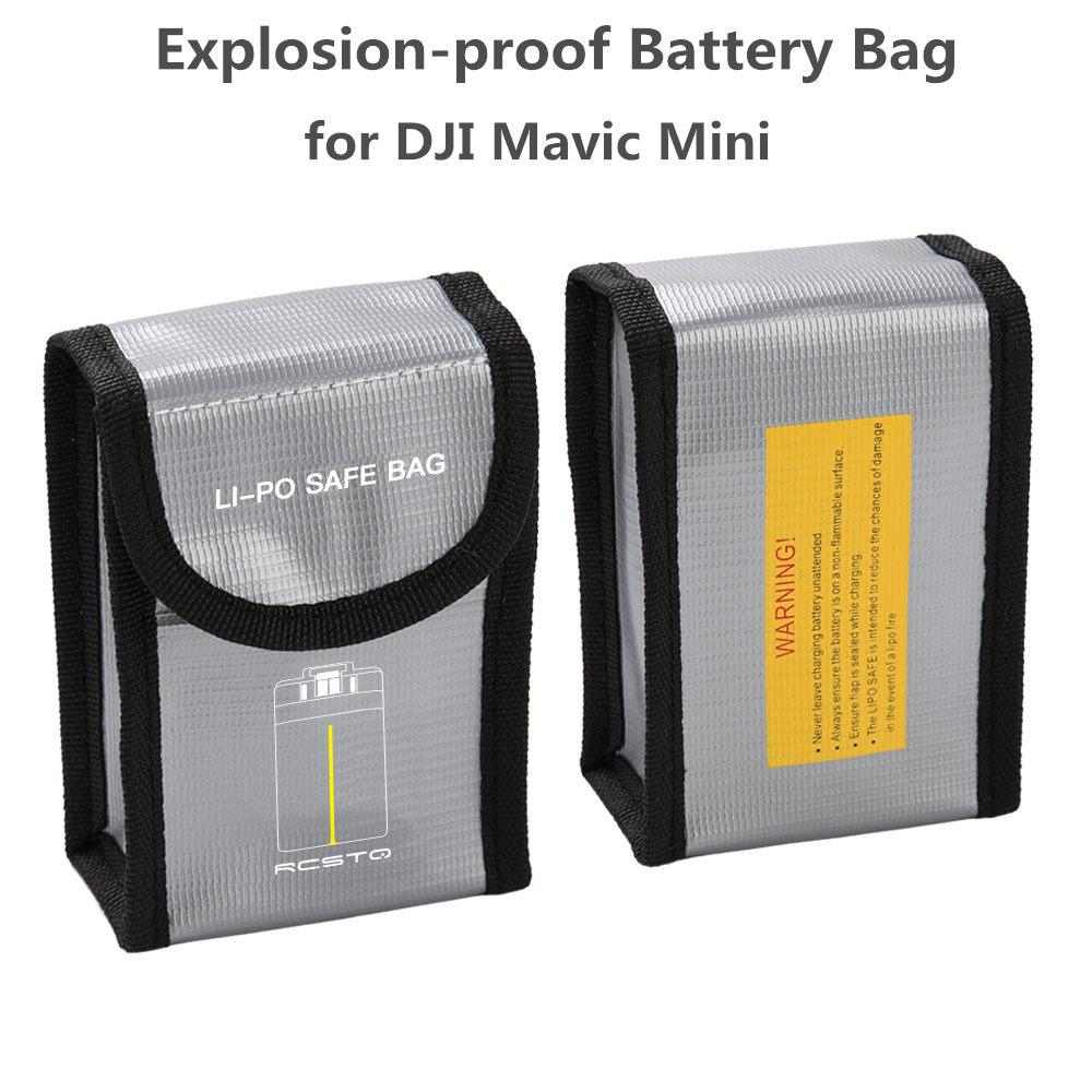For DJI Mavic Mini Battery Package 1/2/3 Battery Pack Protective Storage Bag LiPo Safe Bag Explosion-Proof For DJI Mavic Mini