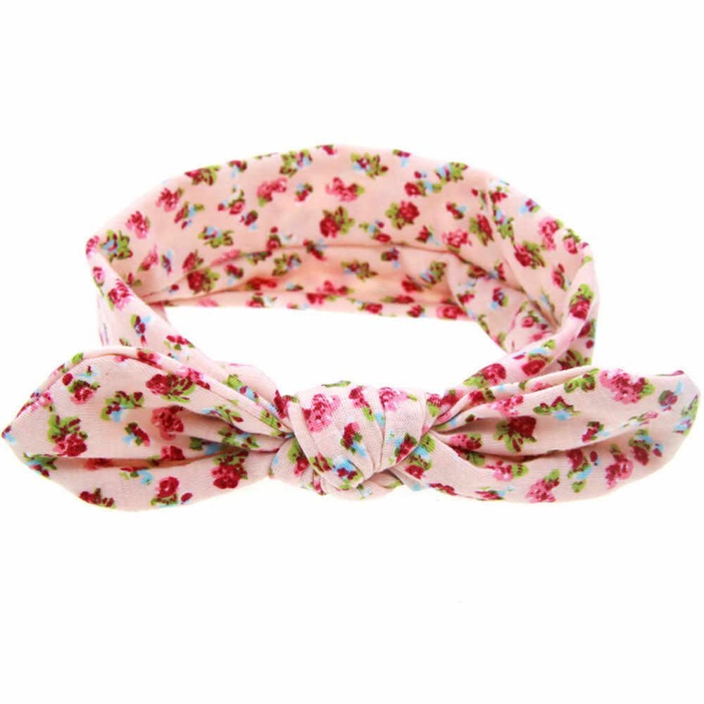 Bandas para el pelo para niñas Orejas de conejo cinta elástica para la cabeza con lazo cinta para el cabello en accesorios para el cabello para mujeres
