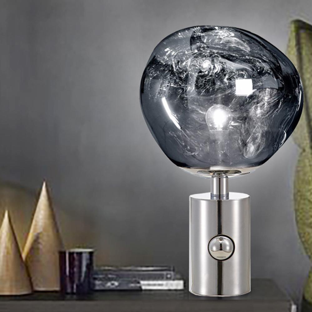 Nordic Vulkanische Lava Tafellamp, Postmoderne PVC Bureaulamp, nachtkastje voor Slaapkamer Bedside Studeerkamer 10 x 17 - 4