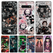 Najnowszy Demon Slayer Anime etui na telefony do Samsung Galaxy S20 Ultra Plus S6 S7 S8 S9 S10 NOTE8 NOTE9 NOTE10 J4 J6 Plus krawędzi Lite H