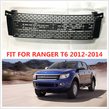 PICKUP CAR grill radiator EXTERIOR FRONT RACING GRILLE ABS GRILLS BUMPER MESH MASK TRIMS COVER FIT FOR RANGER T6 XLT 2012-2015.3 40 120cm honeycomb car radiator grills plastic racing radiator grill mesh front bumper vent decoration accessories