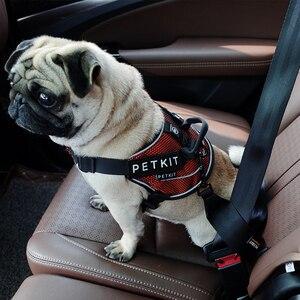 Image 3 - Petkit ceinture de sécurité pour voiture pour animaux de compagnie résistant à lusure chiens sangle de poitrine de sécurité de voiture pour petits chiens moyens pince de voyage harnais pour animaux de compagnie ceinture de sécurité