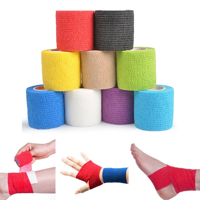 Self Adhesive Breathable Bandage Wrap Therapy Muscle Tape Waterproof Bandage Football Outdoor Swim Fishing Sports Safety Tape