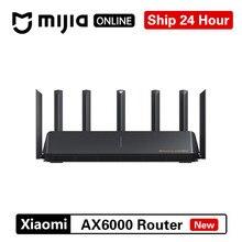 Xiaomi ax6000 aiot roteador wifi 6 5g 2.5g wifi6 segurança vpn 6000mbs gigabit taxa qualcomm amplificador de sinal externo mi casa