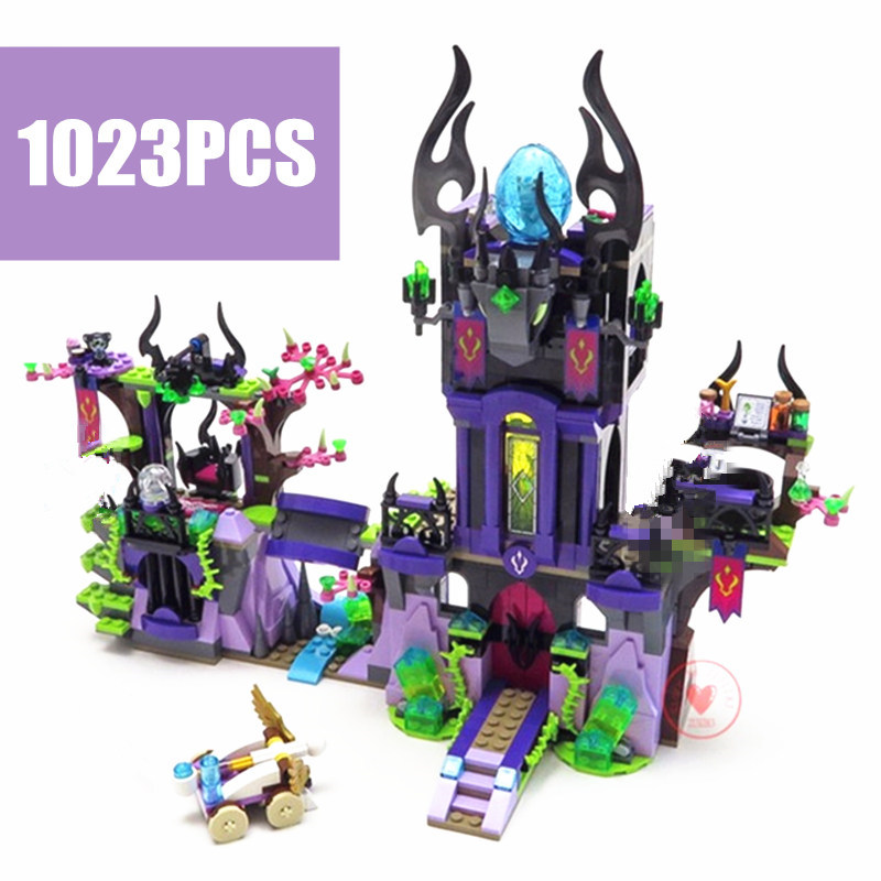Elves Ragana's Magic Shadow Castle Fit Elves Fairy Figures Model Building Blocks Bricks Toy Children Gift Kid Set Girls Birthday image