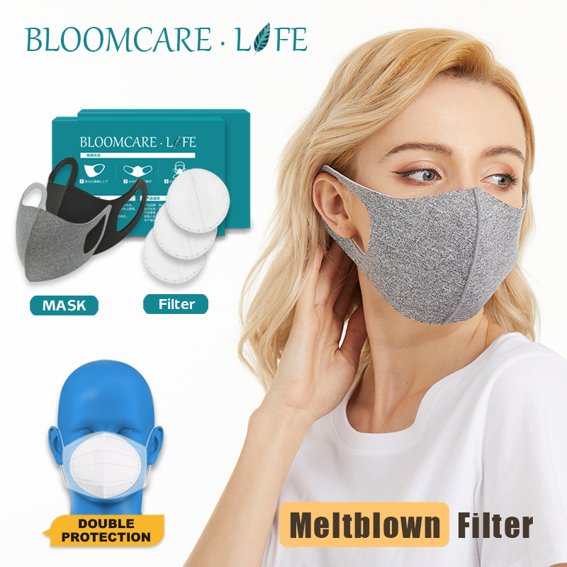 Ship In 24 Hours 【BloomCare】 Anti Flu Sunblock Mouth Mask 3D Fashion Black Color, Reusable Dust Proof Soft Face Mask Breathable