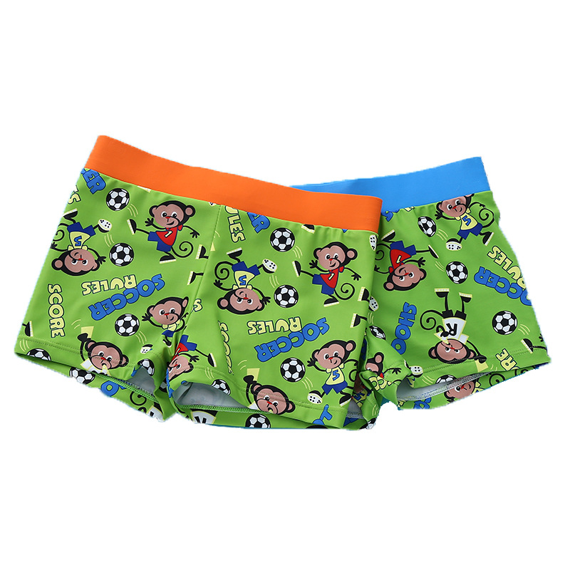 Korean-style New Style CHILDREN'S Swimming Trunks Boxer Cartoon Swimming Trunks Infants Male Baby Hooded Swimming Trunks Medium-
