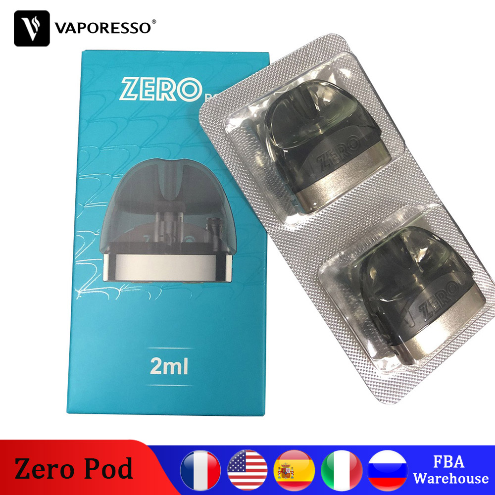 Original Vaporesso Renova Zero Pod With 2ml Capacity 1.0ohm Coil Head E-cig Tank For Vape Electronic Cigarette Zero Kit Pod