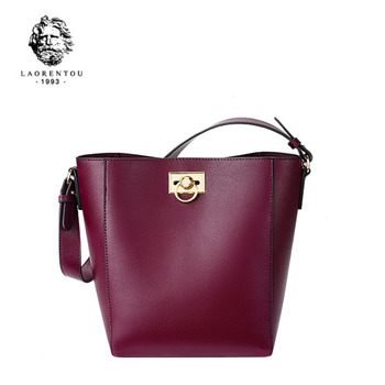 LAORENTOU 2020 New fashion leather bags cowhide luxury handbags women bags designer bag women leather shoulder crossbody bags