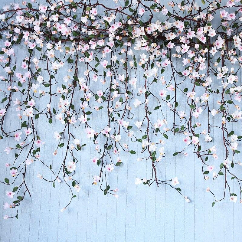 LUYUE 155CM Artificial Silk Rose Flower Wisteria Vine Rattan Hanging Flower Garland For Wedding Party Home Garden Decoration