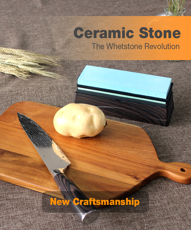 HIAMEA New ceramic whetstone Knife Sharpener whetstone Sharpening Stones grinding stone System water stone honing whetstone