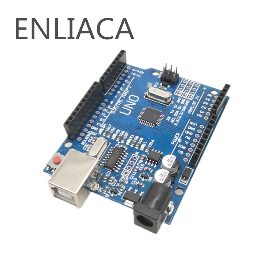 1PCS UNO R3 UNO board UNO R3 CH340G+MEGA328P Chip 16Mhz For Arduino UNO R3 Development board Power Adapter