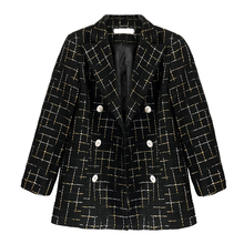 autumnWomen's temperament casual check small suit female spring European and American retro students