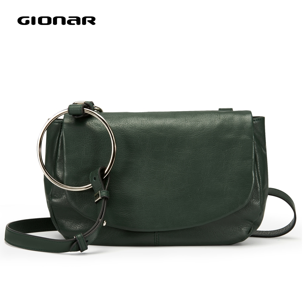 GIONAR Soft Genuine Leather Vintage Crossbody Shoulder Bags Women Ladies 2019 Small Luxury Designer Purses And Handbags