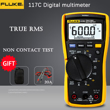 Fluke 117c HAVC voltalalert LCD backlight digital multimeter true RMS voltage test AC / DC current voltage test