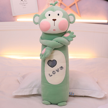 Cute Monkey Doll Doll Plush Toy Baby Intestinal Colic Sleeping Pillow Bed Long Pillow Doll Girl Stuffed Animals  Plush 40cm cute otter plush toys artificial river otter doll baby stuffed plush doll animals doll wholesale drop shipping new style