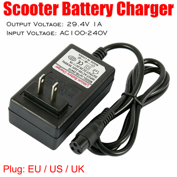 29.4V 1A Universal Battery Charger Balanced Car Smart Balance Wheel Electric Power Scooter Charger EU US UK Plug Adapter Drive image