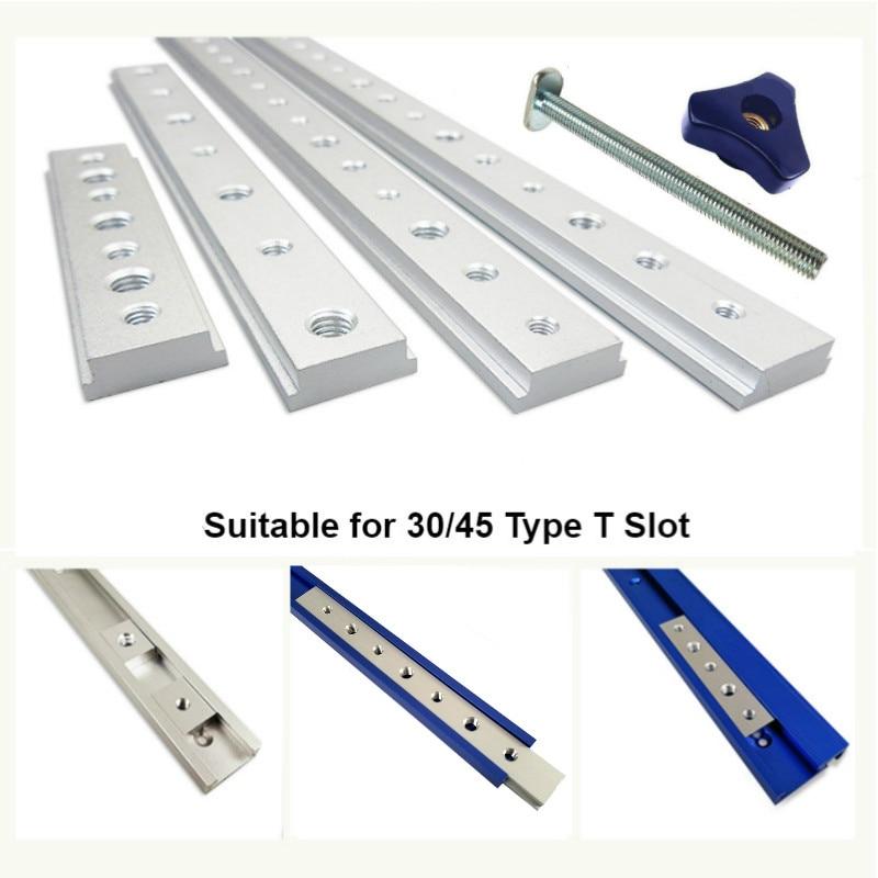 Aluminum M6/M8 T Track Slot Slider Sliding Bar T Slot Nut For 30/45 Type T-Track Jigs Screw Slot Fastener Woodworking Tool