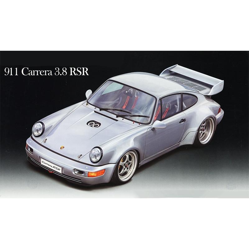 1/24 Porsche 911 Carrera 3.8 RSR Assemble Car Model 12664