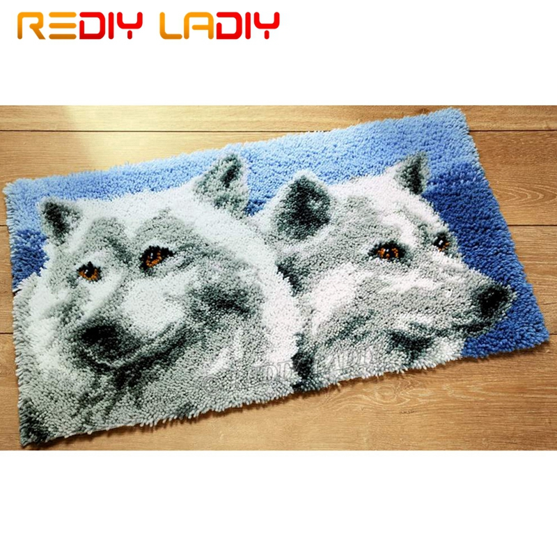 Latch Hook Kits Make Your Own Rug Wolf
