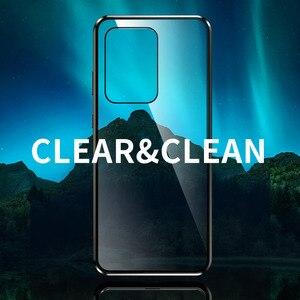 Image 5 - Magnetische Flip Case Voor Samsung Galaxy S20 Ultra S20 Plus Case Dubbelzijdig Gehard Glas Bumper Cover Voor Samsung s20 S 20 Capa