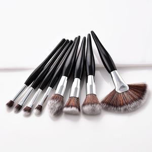 Image 2 - 4/8 pçs maquiagem escova kit macio cabelo sintético punho de madeira compõem escovas fundação pó blush eyeshadow cosméticos maquiagem ferramentas