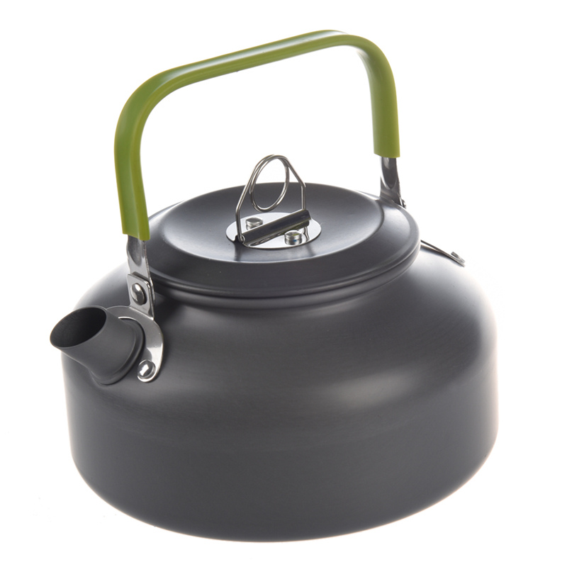 0.8L Portable Ultra-light Outdoor Hiking Camping Survival Water Kettle Teapot Coffee Pot Anodised Aluminum