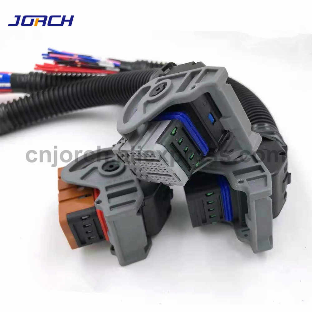 1set Automotive 32 pin 48 pin Computer board connector plug met kabel controller kabelboom voor Weichai OH6 Woodward