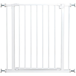 Baby Safety Gate For Dogs Pet Indoor Fence Metal Door Easy Locking System