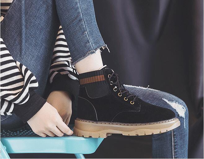 Botas de camurça do falso botas femininas