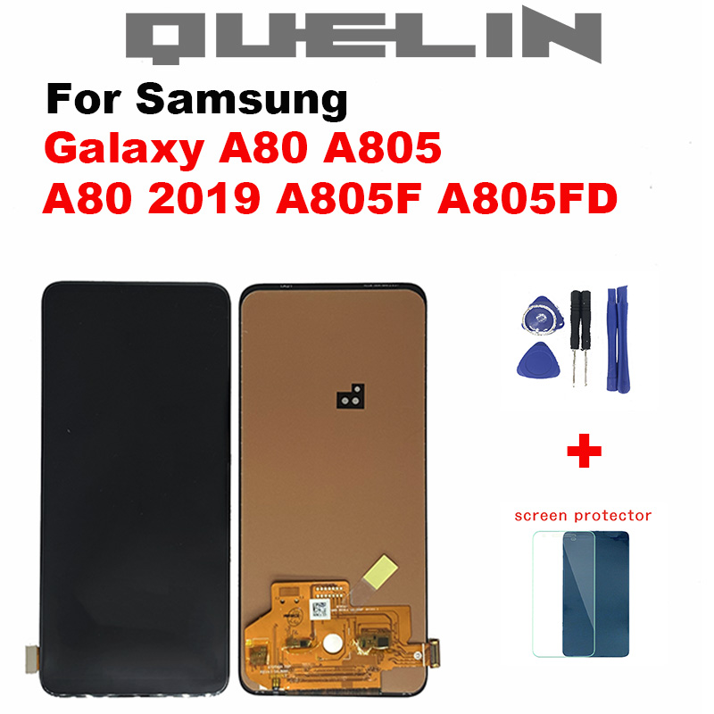 Incell 6.7'' <font><b>LCD</b></font> Display For <font><b>Samsung</b></font> <font><b>Galaxy</b></font> <font><b>A80</b></font> A805 SM-A805F 4GB <font><b>LCD</b></font> Touch Screen Digitizer Assembly For <font><b>A80</b></font> 2019 Screen image