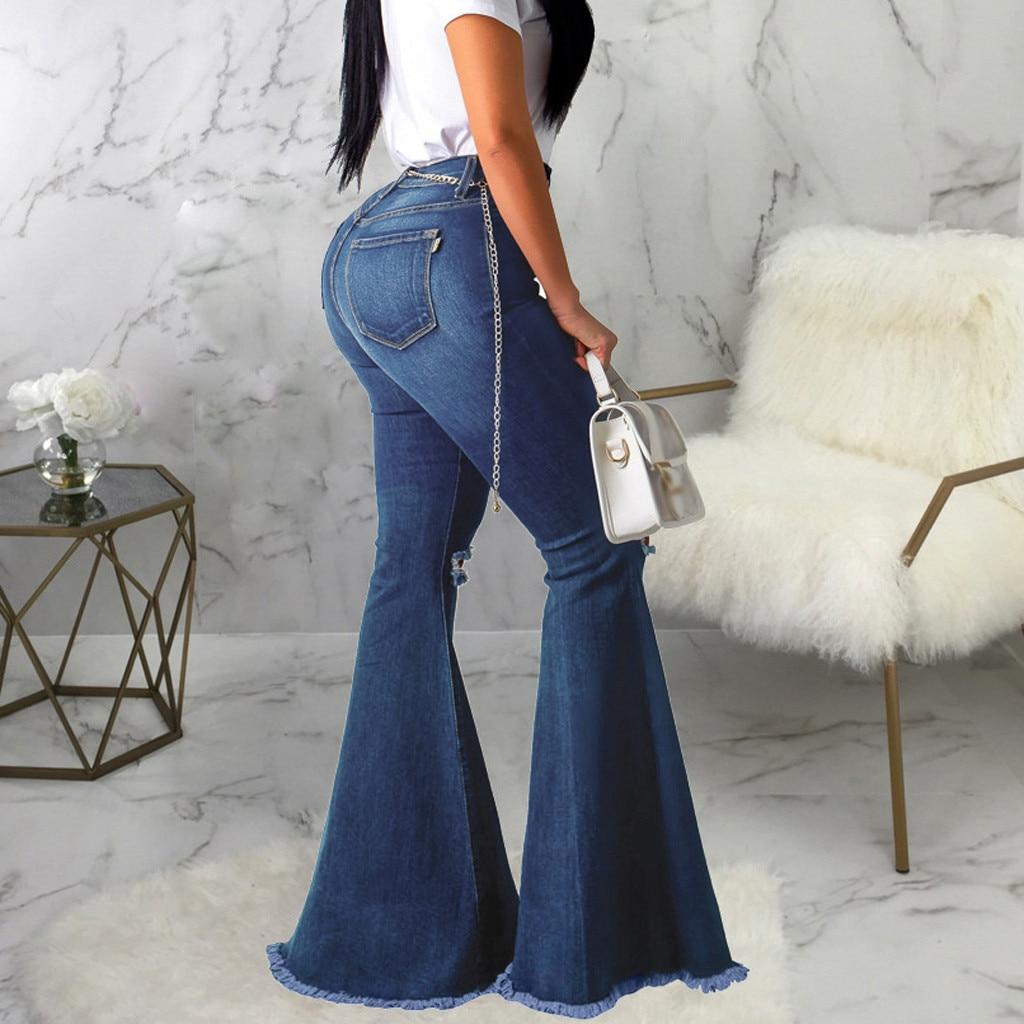 Wide Leg Ripped Distressed Denim Jeans