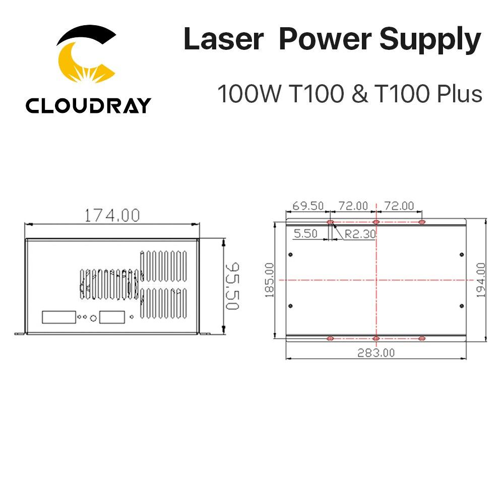 """""""Cloudray"""" 80W – 100W CO2 lazerio energijos tiekimo šaltinis - Medienos apdirbimo mašinų dalys - Nuotrauka 6"""