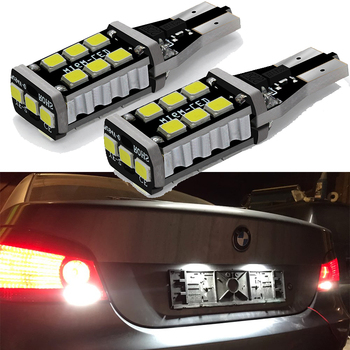 2x W16W T15 Canbus OBC Error Free LED Car Backup Reverse Light for BMW E46 E39 E90 E60 E36 F30 F10 E30 E34 X5 E53 M M3 M4 Z4 Z3 image